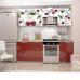 Кухня Oli с фотопечатью Вишня комплект 2,1м