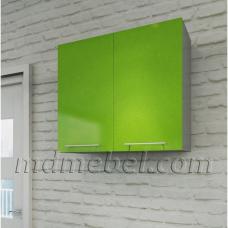 Шкаф верхний Олива зеленый металлик 800