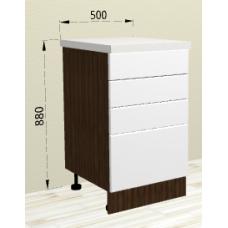 Шкаф Бруклин нижний с 4 ящиками 500