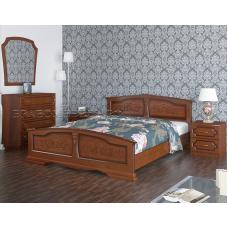 Кровать Елена орех 1800х2000