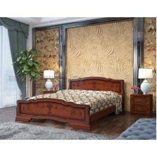 Кровать Карина-6 орех с ящиками 1800х2000