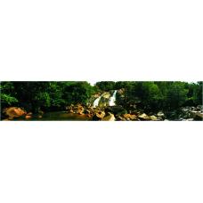 Кухонный фартук Горы №4 Лесной водопад