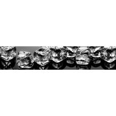Кухонный фартук Гурман №79 Лед на черном