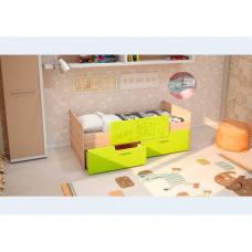 Детская кровать Умка-2 МДФ с ограничителем Лайм