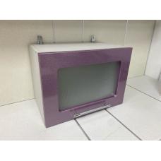 Шкаф верхний горизонтальный остекленный 500 Сирень МДФ