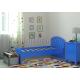 Детская кровать Радуга синяя