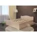 Двуспальная кровать Волна с ящиками 160