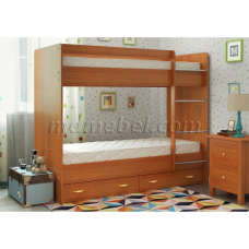 Двуспальная кровать Двухъярусная с ящиками