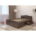Двуспальная кровать Волна с ящиками 140