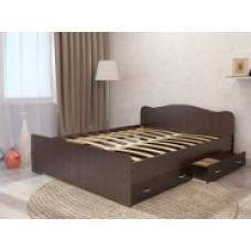 Кровать для дачи двуспальная с ящиками для белья 1600мм