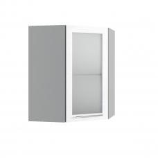 Шкаф Вероника верхний угловой стекло 550 сосна
