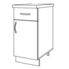Шкаф Домино нижний с 1 ящиком 400