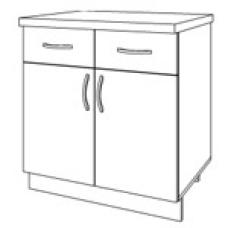 Шкаф Мокко нижний с 2 ящиками 800