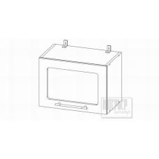 Шкаф Мокко верхний горизонтальный со стеклом 500