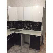Кухня Олива 1.9х1.4 черно-белая