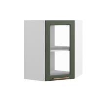 Шкаф Квадро верхний угловой стекло 550