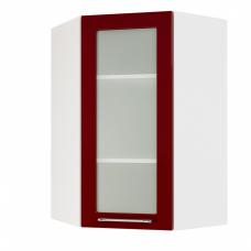 Шкаф Норд верхний угловой стекло высокий 600