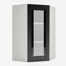 Шкаф Риволи верхний угловой высокий стекло 550
