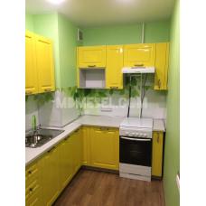 Кухня Дина 1450х2000 лонган глянец