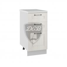 Шкаф Капри нижний 3 ящика 400