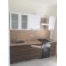 Кухня Марио белый глянец - зебрано глянец 1.8 м