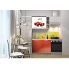 Кухня Oli с фотопечатью Вишня- красный 1.6м