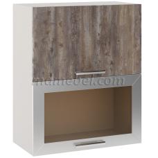 Шкаф Лира верхний горизонтальный двойной 1 стекло 600