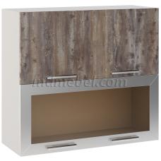 Шкаф Лира верхний горизонтальный двойной 1 стекло 800