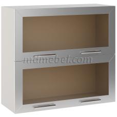 Шкаф Лира верхний горизонтальный двойной 2 стекла 800
