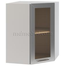 Шкаф Лира верхний угловой стекло 550