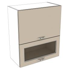 Шкаф Дина верхний горизонтальный двойной 1 стекло 500