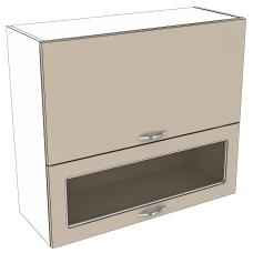 Шкаф Карина верхний горизонтальный двойной 1 стекло 800