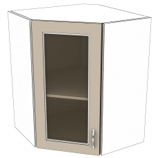 Шкаф Карина верхний угловой стекло 600