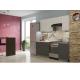 Кухня Лофт бетон белый / бетон черный 2,1м