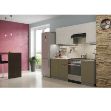 Кухня Лофт бетон белый / бетон коричневый 2,1м