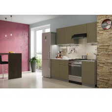 Кухня Лофт бетон коричневый 2,1м