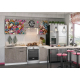 Кухня Лофт бетон коричневый / ice cream pink 2,1м