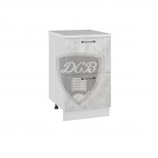 Шкаф Лофт нижний 2 больших ящика 500