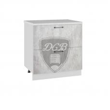 Шкаф Лофт нижний 2 больших ящика 800