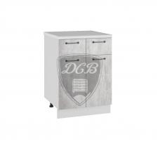 Шкаф Лофт нижний 2 ящика 600