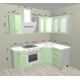 Кухня Ницца фисташка 2050х1350