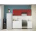 Кухня Oli белый глянец - рубин глянец 2,1м