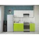 Кухня Oli лайм глянец - белый глянец 2,1м