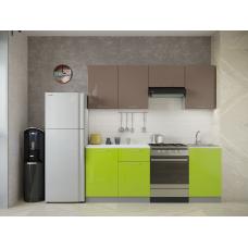 Кухня Oli лайм глянец - мокко глянец 2,1м