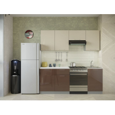 Кухня Oli шоколад глянец - ваниль глянец 2,1м
