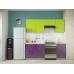 Кухня Oli фиолетовый глянец - лайм глянец 2,1м