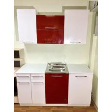 Кухня Гранат-белый 1600