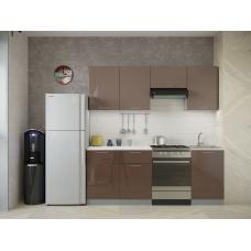 Кухня Oli шоколад глянец - мокко глянец 2,1м