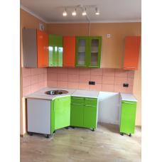 Кухня Oli 1750х1050 оранж/салат