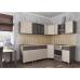 Кухня угловая комбинированная ЛДСП 2.15м х1.25м
